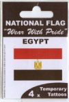 Egypt Country Flag Tattoos.